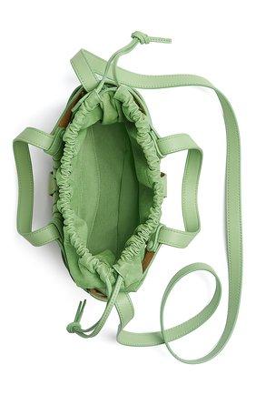 Женская сумка shell BOTTEGA VENETA светло-зеленого цвета, арт. 651819/VMAUH | Фото 2