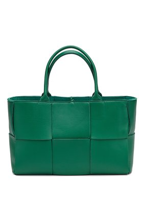 Женская сумка-тоут arco BOTTEGA VENETA зеленого цвета, арт. 609175/VMAY5 | Фото 1