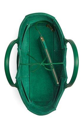 Женская сумка-тоут arco BOTTEGA VENETA зеленого цвета, арт. 609175/VMAY5 | Фото 2