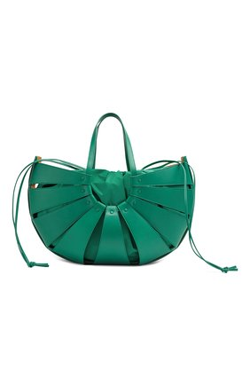 Женская сумка shell BOTTEGA VENETA зеленого цвета, арт. 651578/VMAUH | Фото 1