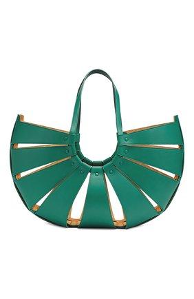 Женская сумка shell BOTTEGA VENETA зеленого цвета, арт. 651578/VMAUH | Фото 2