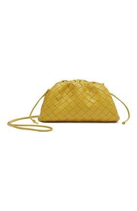 Женский клатч pouch mini BOTTEGA VENETA желтого цвета, арт. 585852/VCPP1 | Фото 1