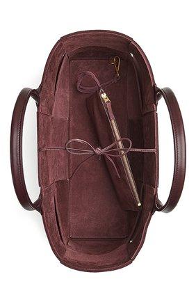 Женская сумка-тоут arco BOTTEGA VENETA фиолетового цвета, арт. 609175/VMAY5 | Фото 2