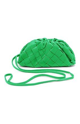 Женские кожаный кошелек BOTTEGA VENETA зеленого цвета, арт. 577816/VCPP1 | Фото 1