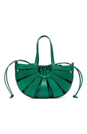 Женская сумка round BOTTEGA VENETA зеленого цвета, арт. 651577/VMAUH | Фото 1