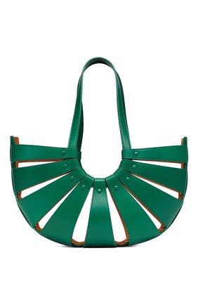 Женская сумка round BOTTEGA VENETA зеленого цвета, арт. 651577/VMAUH | Фото 2
