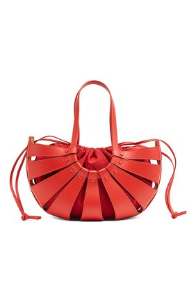Женская сумка shell BOTTEGA VENETA красного цвета, арт. 651577/VMAUH | Фото 1