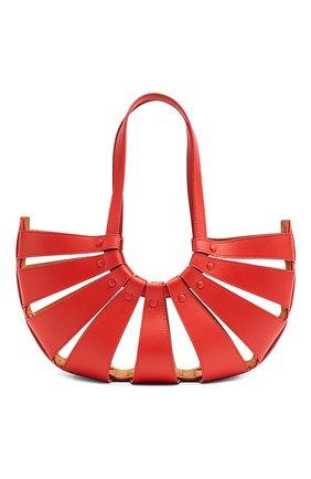 Женская сумка shell BOTTEGA VENETA красного цвета, арт. 651577/VMAUH | Фото 2