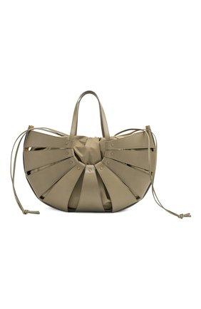 Женская сумка shell BOTTEGA VENETA серого цвета, арт. 651578/VMAUH | Фото 1