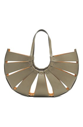 Женская сумка shell BOTTEGA VENETA серого цвета, арт. 651578/VMAUH | Фото 2