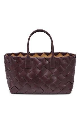 Женская сумка-тоут BOTTEGA VENETA фиолетового цвета, арт. 630817/VMAY3 | Фото 1