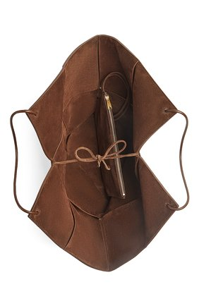 Женская сумка-тоут BOTTEGA VENETA коричневого цвета, арт. 652058/V0HS1 | Фото 2