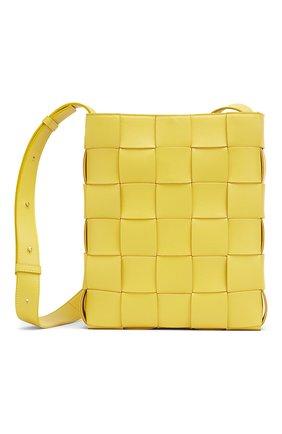Женская сумка cassette BOTTEGA VENETA желтого цвета, арт. 649601/VMAY1 | Фото 1