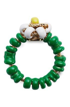 Женское кольцо BOTTEGA VENETA зеленого цвета, арт. 649317/VAHU4   Фото 1