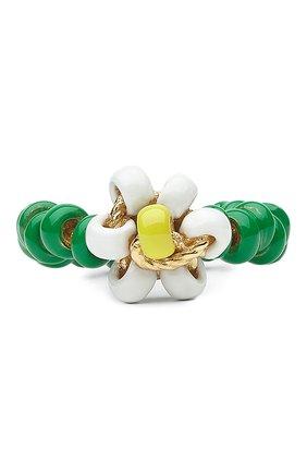 Женское кольцо BOTTEGA VENETA зеленого цвета, арт. 649317/VAHU4   Фото 2