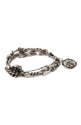 Мужской браслет ALEXANDER MCQUEEN серебряного цвета, арт. 650911/I94VY | Фото 1