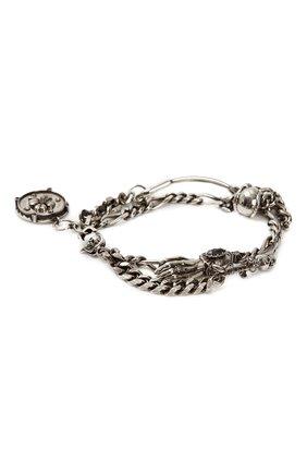 Мужской браслет ALEXANDER MCQUEEN серебряного цвета, арт. 650911/I94VY | Фото 2