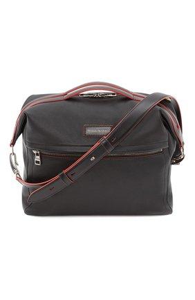 Мужская кожаная сумка ALEXANDER MCQUEEN черного цвета, арт. 646822/1AAAB | Фото 1