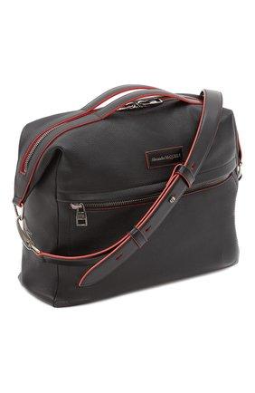 Мужская кожаная сумка ALEXANDER MCQUEEN черного цвета, арт. 646822/1AAAB | Фото 2