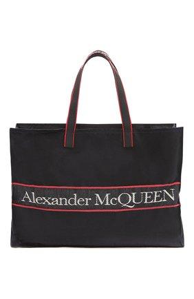 Мужская текстильная сумка-шопер east west ALEXANDER MCQUEEN черного цвета, арт. 646453/1AAAE | Фото 1