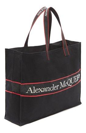 Мужская текстильная сумка-шопер east west ALEXANDER MCQUEEN черного цвета, арт. 646453/1AAAE | Фото 2