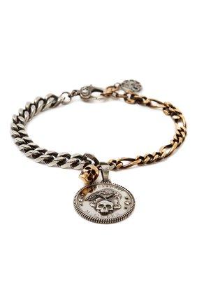 Мужской браслет ALEXANDER MCQUEEN серебряного цвета, арт. 651091/J160K | Фото 1