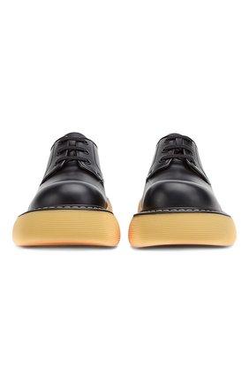 Мужской кожаные дерби BOTTEGA VENETA черного цвета, арт. 651259/V00H0 | Фото 2