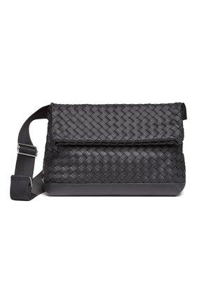 Мужская кожаная сумка BOTTEGA VENETA черного цвета, арт. 651836/V0E52 | Фото 1