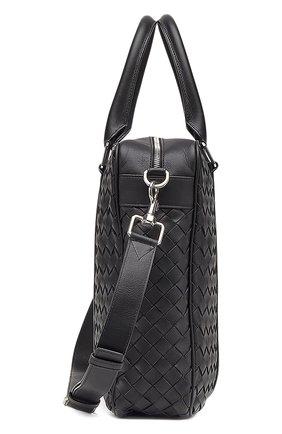 Мужская кожаная сумка для ноутбука BOTTEGA VENETA черного цвета, арт. 650372/V0E51 | Фото 2