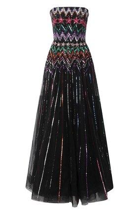 Женское платье с пайетками JENNY PACKHAM черного цвета, арт. HHD101L | Фото 1