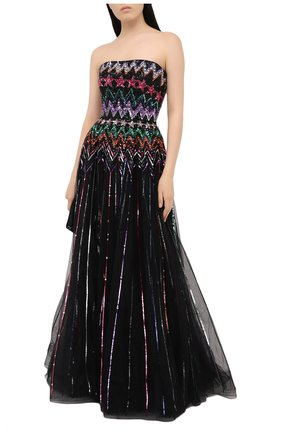 Женское платье с пайетками JENNY PACKHAM черного цвета, арт. HHD101L | Фото 2