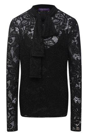 Женский пуловер из льна и кашемира RALPH LAUREN черного цвета, арт. 290822969   Фото 1