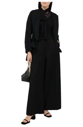 Женский пуловер из льна и кашемира RALPH LAUREN черного цвета, арт. 290822969   Фото 2