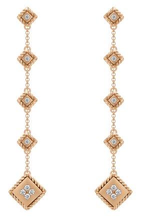 Женские серьги ROBERTO COIN розового золота цвета, арт. ADR777EA2782(RG)   Фото 1