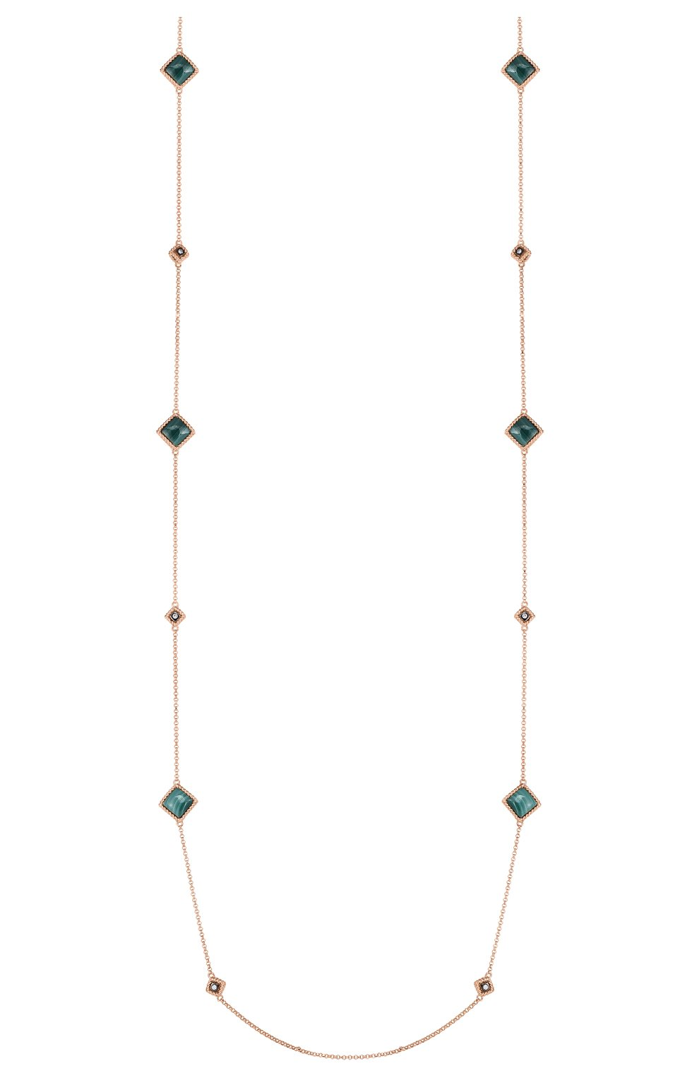 Женские колье ROBERTO COIN бесцветного цвета, арт. ADV777CL3005 | Фото 1 (Драгоценные камни: Бриллианты; Материал сплава: Розовое золото)