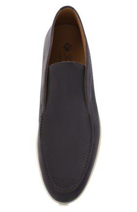 Мужские замшевые ботинки open walk LORO PIANA серого цвета, арт. FAB4368 | Фото 5 (Мужское Кросс-КТ: Ботинки-обувь; Материал внутренний: Натуральная кожа; Подошва: Плоская; Материал внешний: Замша)