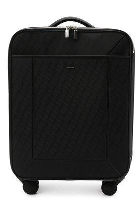 Мужской дорожный чемодан ZILLI черного цвета, арт. MJL-0BW03-J0440/0001   Фото 1 (Материал: Текстиль)