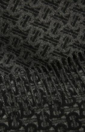 Мужской кашемировый шарф BURBERRY темно-серого цвета, арт. 8037408 | Фото 2