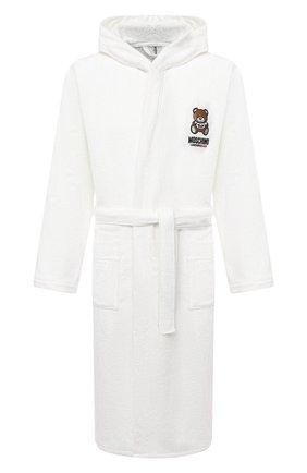 Мужской хлопковый халат MOSCHINO белого цвета, арт. A7301/8140 | Фото 1