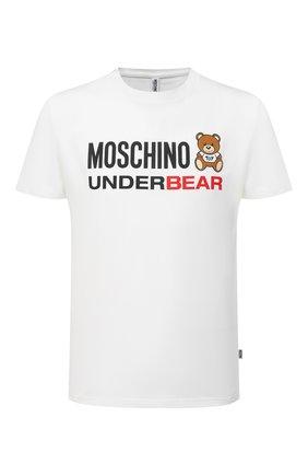 Мужская хлопковая футболка MOSCHINO белого цвета, арт. A1914/8107 | Фото 1