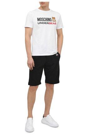 Мужская хлопковая футболка MOSCHINO белого цвета, арт. A1914/8107 | Фото 2