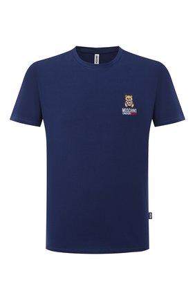 Мужская хлопковая футболка MOSCHINO темно-синего цвета, арт. A1905/8119 | Фото 1