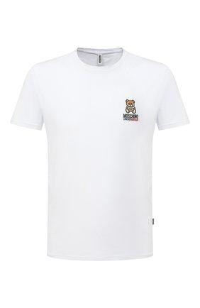 Мужская хлопковая футболка MOSCHINO белого цвета, арт. A1905/8119 | Фото 1