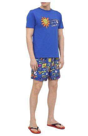 Мужская хлопковая футболка MOSCHINO темно-синего цвета, арт. A1904/2808 | Фото 2