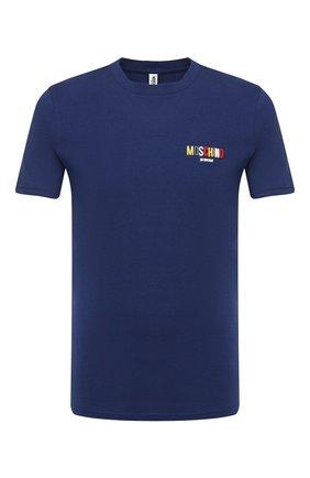 Мужская хлопковая футболка MOSCHINO темно-синего цвета, арт. A1903/2813 | Фото 1