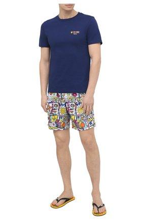 Мужская хлопковая футболка MOSCHINO темно-синего цвета, арт. A1903/2813 | Фото 2