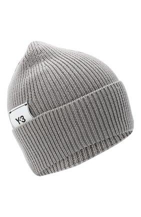 Мужская шерстяная шапка Y-3 серого цвета, арт. GR4118/M | Фото 1