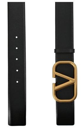 Мужской кожаный ремень VALENTINO черного цвета, арт. VY2T0Q87/ECU | Фото 2