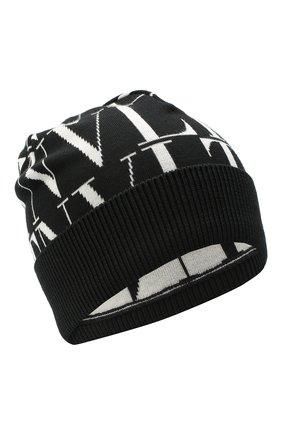 Мужская шерстяная шапка VALENTINO черно-белого цвета, арт. VY2HB00SPEA | Фото 1