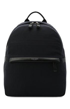 Мужской текстильный рюкзак GIORGIO ARMANI темно-синего цвета, арт. Y20134/YI69E | Фото 1